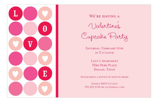Love Dots Invitation polka dot invitations for a Valentine\u0027s party