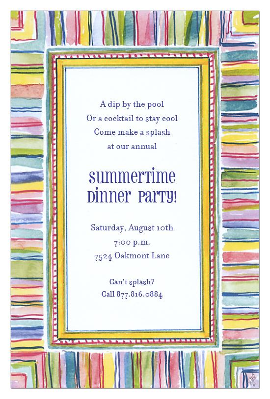 Multi Color Stripes Invitation
