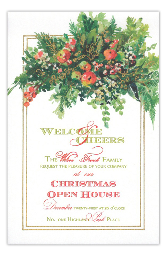 Gathered Greens Open House Holiday Invitation