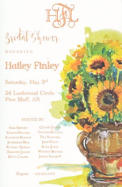 Vango Sunflower Bridal Shower Invitations