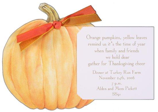 Die-Cut Pumpkin Unique Fall Invitations Polka Dot Design