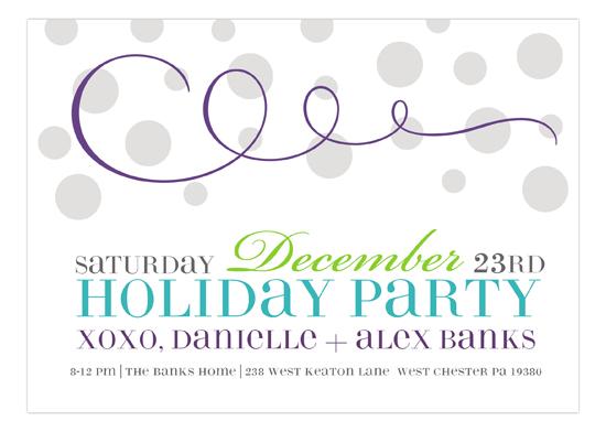 Purple Swirly Celebration Invitation cute invitations for a