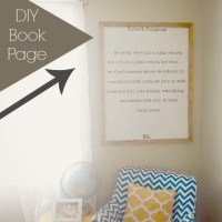DIY Book Page