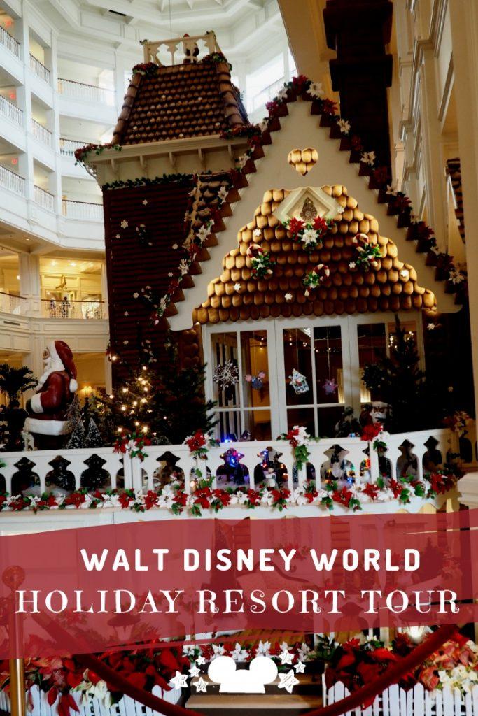 Disney Resort Holiday Decorations Tour at Walt Disney