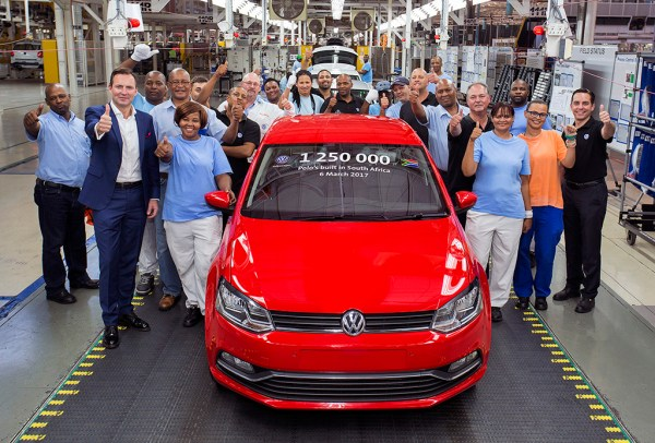 Volkswagen South Africa celebrates production of its 1,250,000th Polo