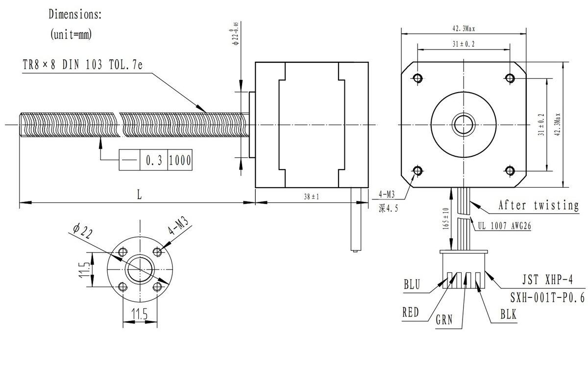 stepper motor wiring harness