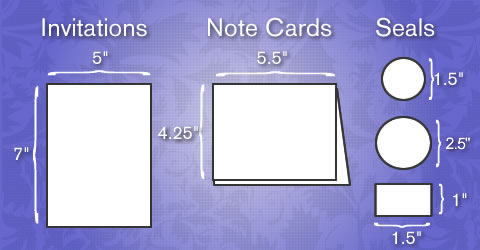 What to Expect when buying invitations from Poly Graphics - what size are notecards