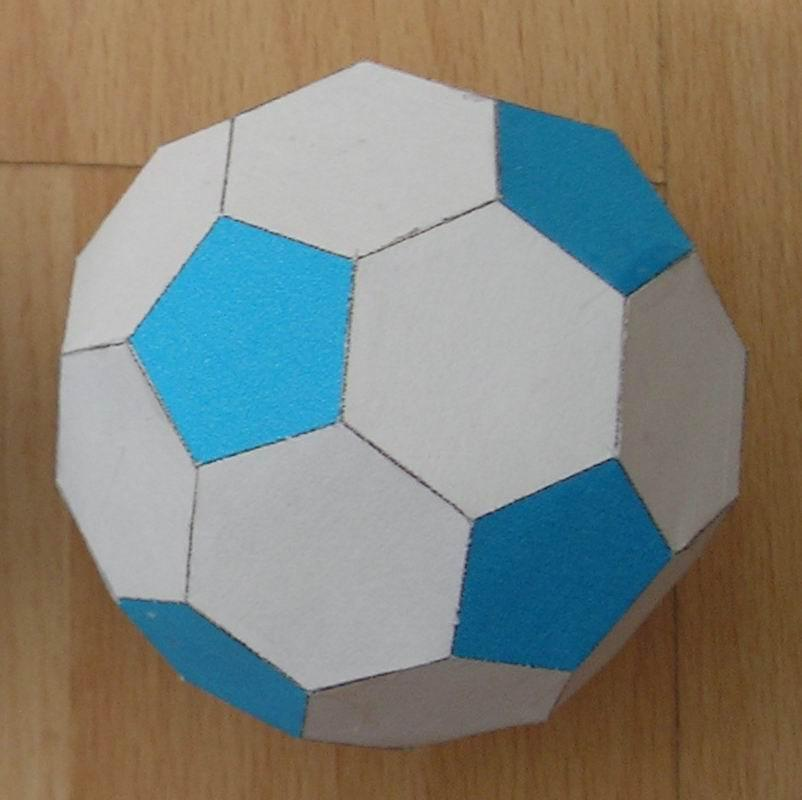Paper Truncated Icosahedron (soccer ball or football)