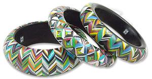 Carol Blackburn's polymer bangles
