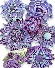 Zuda Gay's polymer sculpted flowers