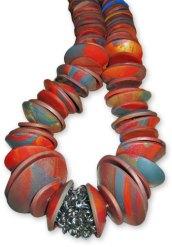 Kylee Milner's autumn disk necklace