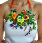Veruschka Stevens' bounty necklace from polymer clay
