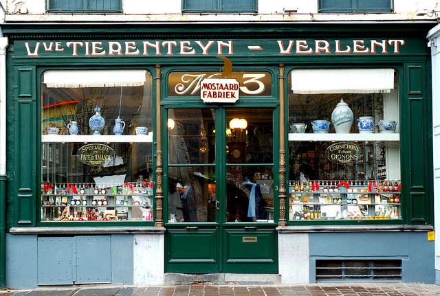 Tierenteyn Mustard shop in Ghent, Belgium