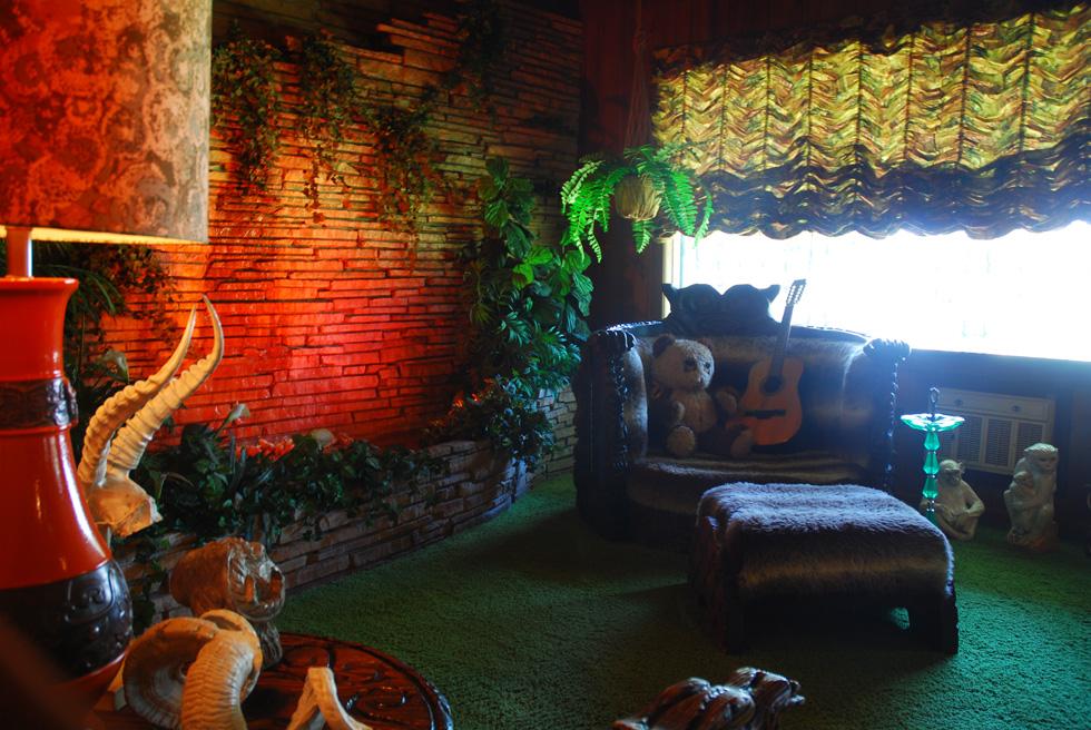 The Jungle Room at Elvis Presley's Graceland Mansion