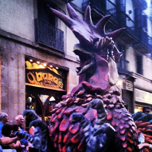 La Merce Barcelona Giants Parade 2012