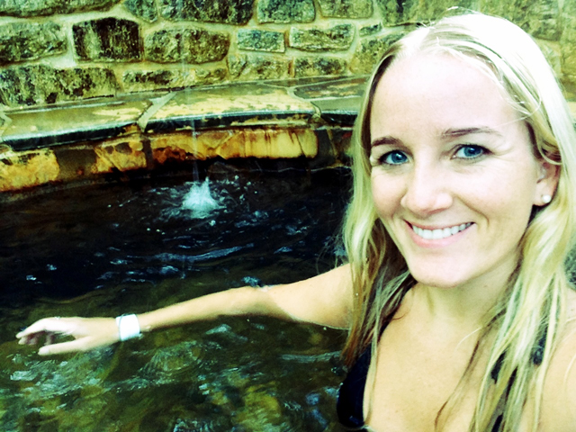 Bathing at Peninsula Hot Springs
