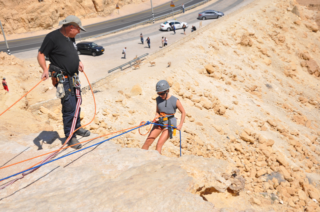 Abseiling Ramon Crater in Israel