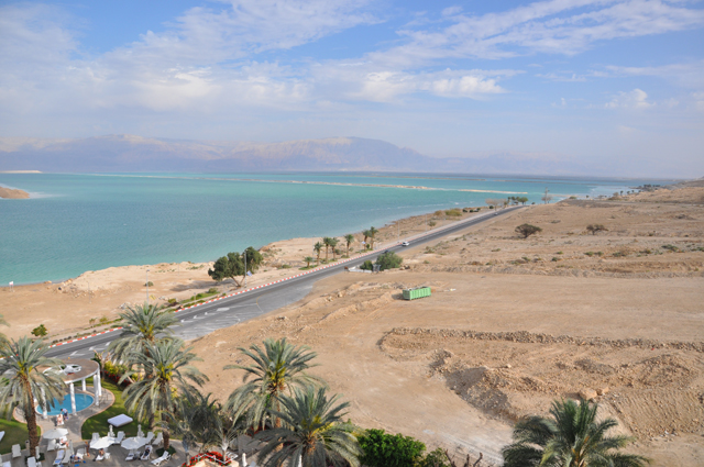 View from my room at the Isrotel Dead Sea