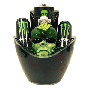 Space Jam Vodka Gift Basket, Alien Head Gift Basket, Space monster drink, Alien Gift Basket, Outerspace Vodka, Outer space vodka