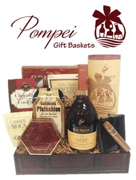 Handsome Day Off Cognac Gift Basket, Cognac Gift Basket NJ, Cognac Gift Basket NY, Cognac Gift Basket TN, Remy Martin Gift Basket, Remy Gift Basket, Remy 1738 Basket NJ, Remy 1738 Gifts NJ, Remy 1738 NY