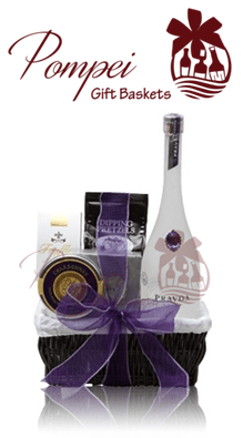 Perfect Pravda Vodka Gift Basket, Pravda Gift Basket, Custom Pravda Gift Basket, High End Vodka Gift Basket, Purple Gem Vodka, Paravda Vodka Gift Basket, Prada Gift Basket, Prada Baskets