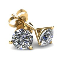 .50Ct Round Brilliant Cut Natural Diamond Stud Earrings In ...