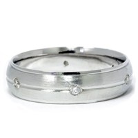Mens 950 Platinum Diamond Brushed Wedding Ring Band   eBay