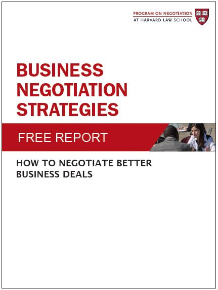 Business Negotiation Strategies How to Negotiate Better Business