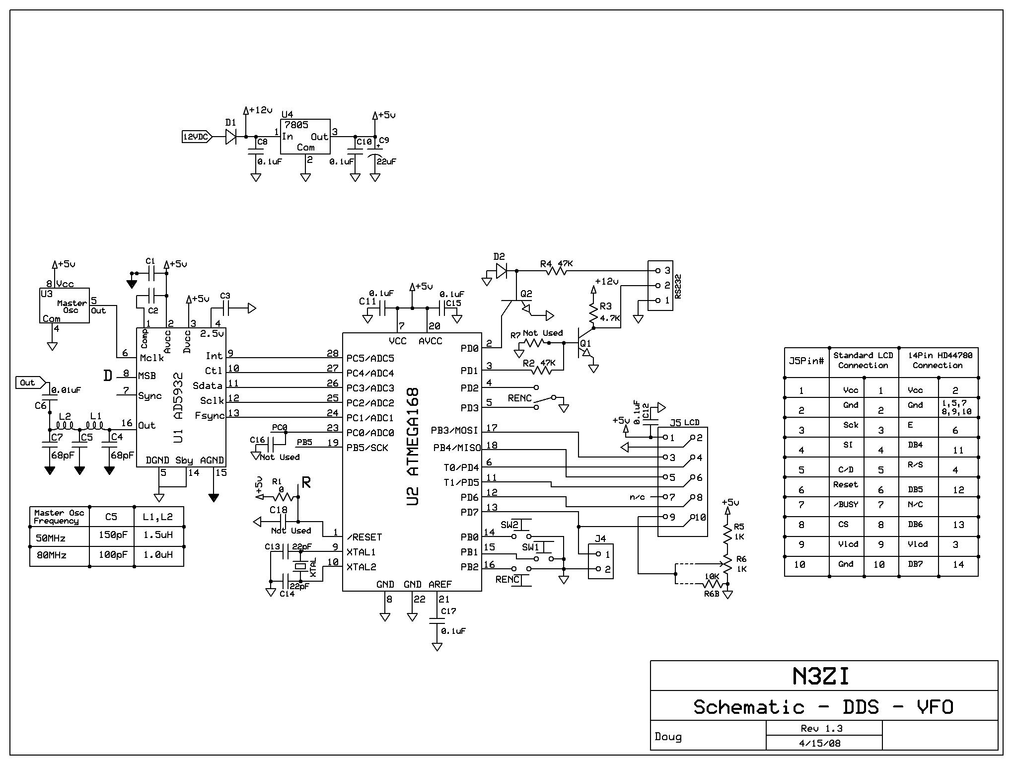 standard rs 232 cable schematic