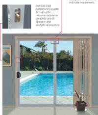 Stainless steel componentry is used throughout for ...