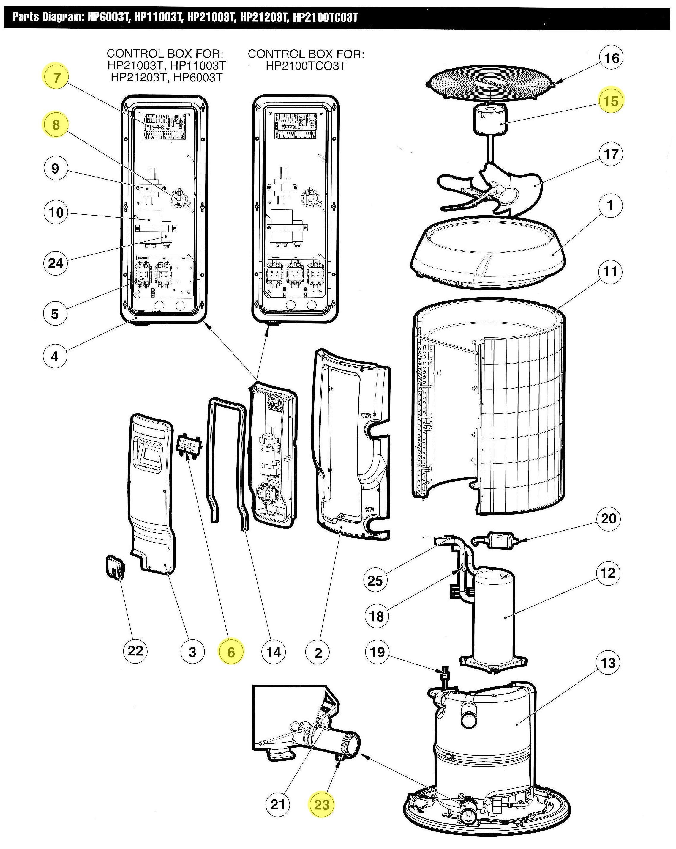 heat pump water heater diagram