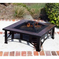 Fire Sense Tuscan Tile Mission Style Square Fire Pit, 60243