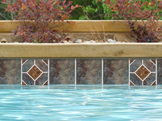 National Pool Tile Aztec Series 6x6 Deco Cobalt Az6 Deco