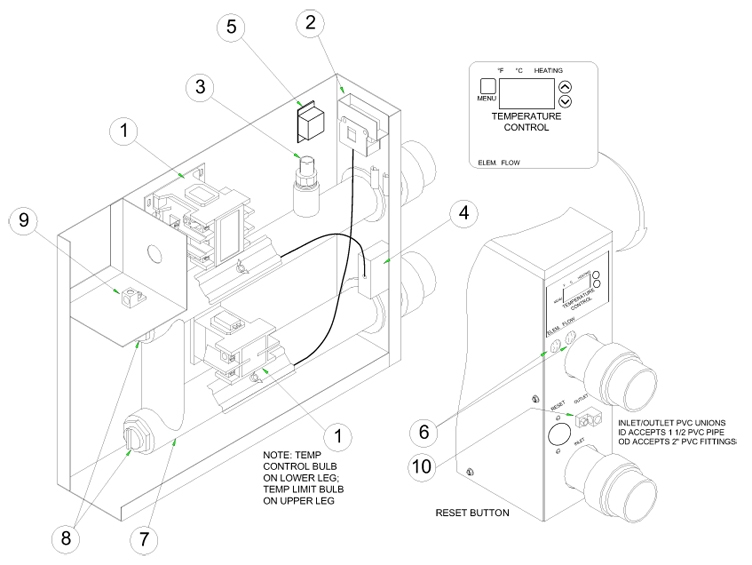 coates spa heater wiring diagram