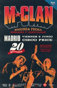 Cartel M-Clan. 6 de junio Circo Price