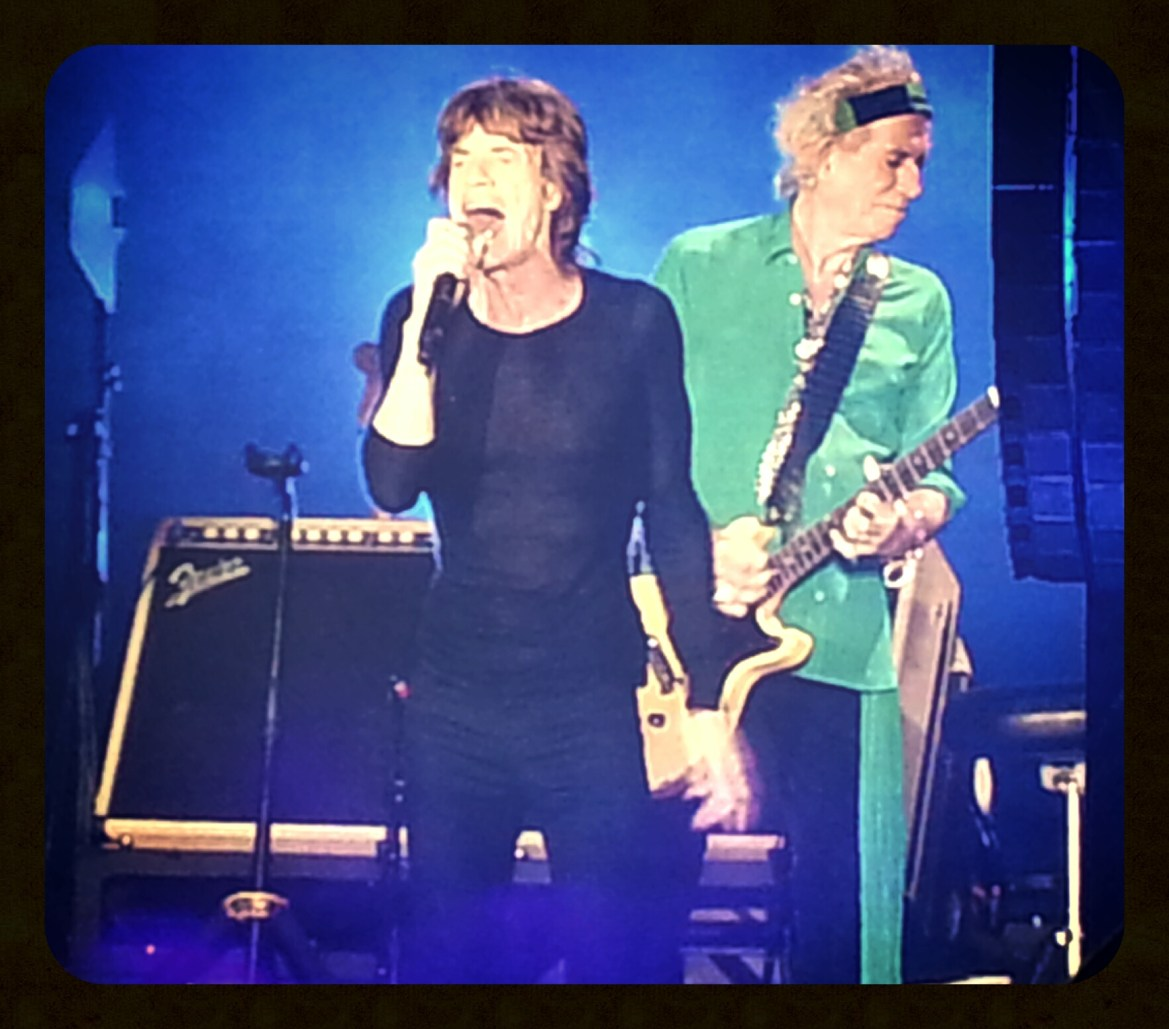Mick Jagger y Keith Richards. Rolling Stones. 14 on fire. Madrid 2014