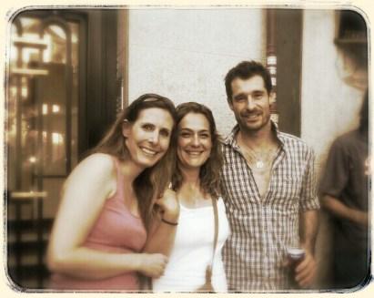 Con Felix Riebl, cantante de The Cat Empire en el concierto de la Sala But. Madrid, julio 2014