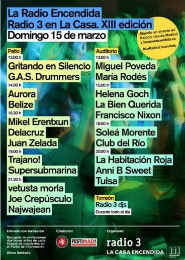 Cartel XIII La Radio Encendida 2015