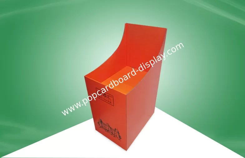 Carton Stable Cardboard Display Bins For Promoting Wine