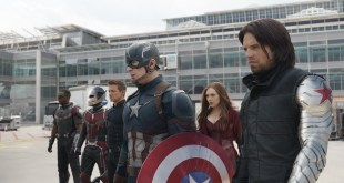Marvel's Captain America: Civil War..L to R: Falcon/Sam Wilson (Anthony Mackie), Ant-Man/Scott Lang (Paul Rudd), Hawkeye/Clint Barton (Jeremy Renner), Captain America/Steve Rogers (Chris Evans), Scarlet Witch/Wanda Maximoff (Elizabeth Olsen) and Winter Soldier/Bucky Barnes (Sebastian Stan)..Photo Credit: Film Frame..© Marvel 2016