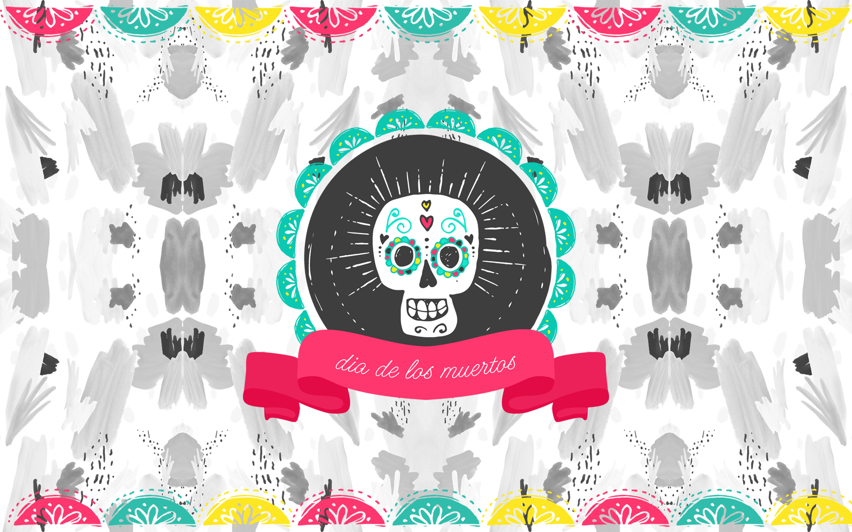 Seasonal Wallpaper For Iphone The Writing S On The Wall Dia De Los Muertos