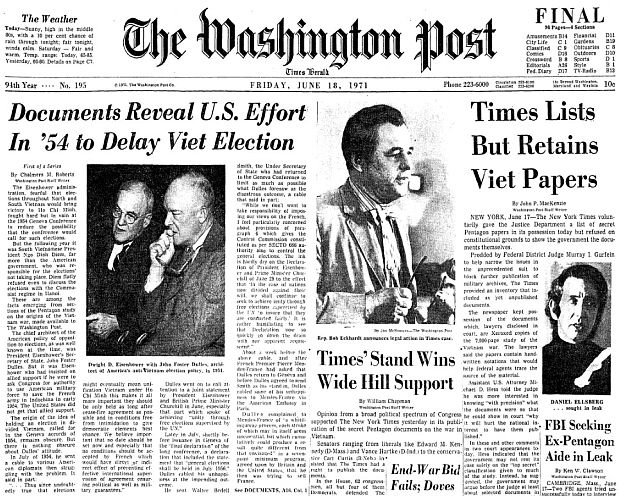 Washington Post Pentagon Papers The Pop History Dig