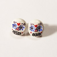 Sugar Skull Stud Earrings - Pop Shop America