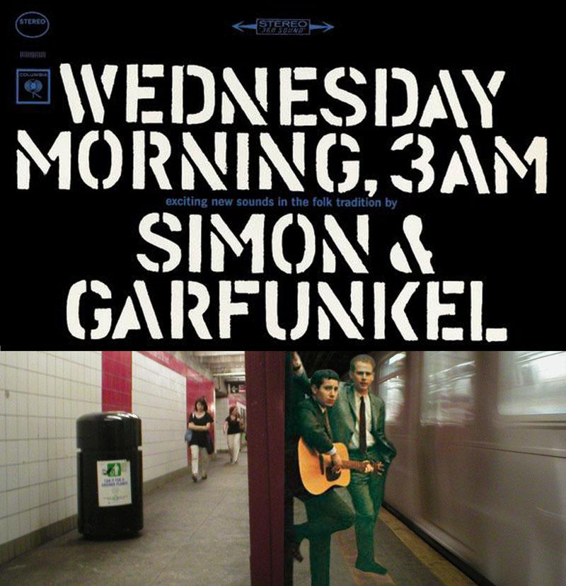 Simon  Garfunkel Wednesday Morning, 3AM - Album Cover Location