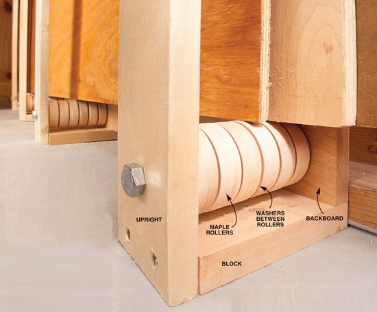 Rollers Ease Plywood Storage Popular Woodworking Magazine