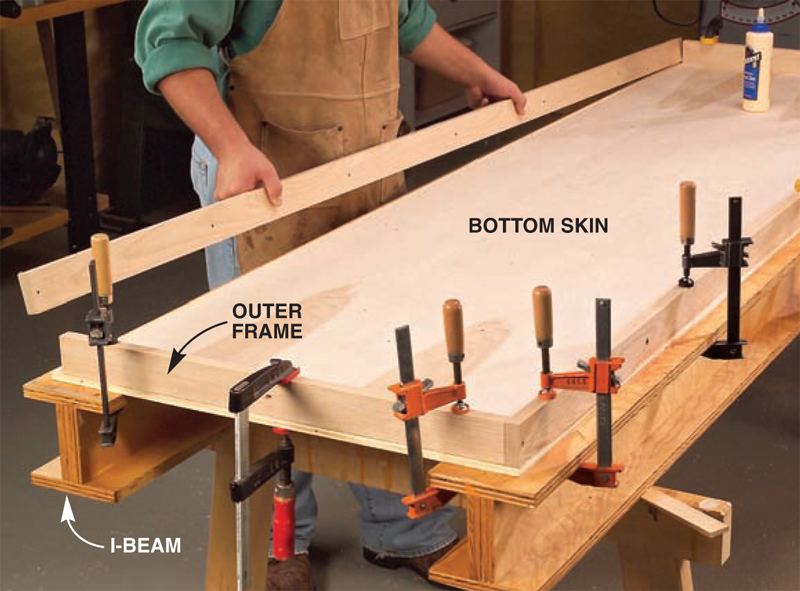 Torsion Box Workbench And Expandable Assembly Table