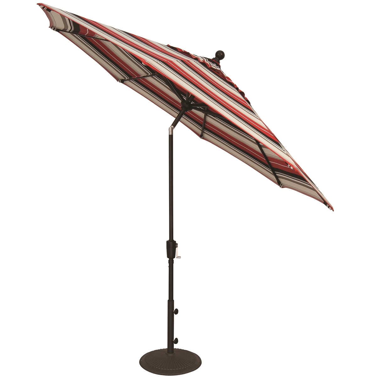 Treasure Garden Aluminum 9' Button Tilt Market Umbrella