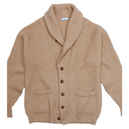 Drakes of London Camelhair Shawl Collar Cardigan