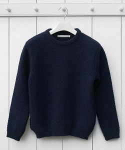 The Want | S.E.H Kelly Moss-stitch Shetland Isle Jumper
