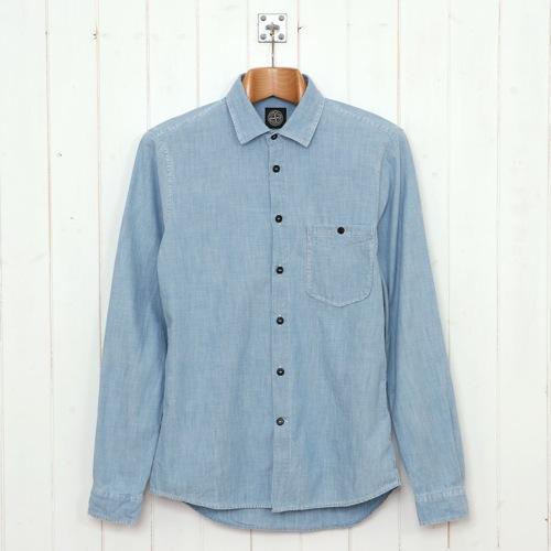 The Want | Stone Island Chambray Shirt